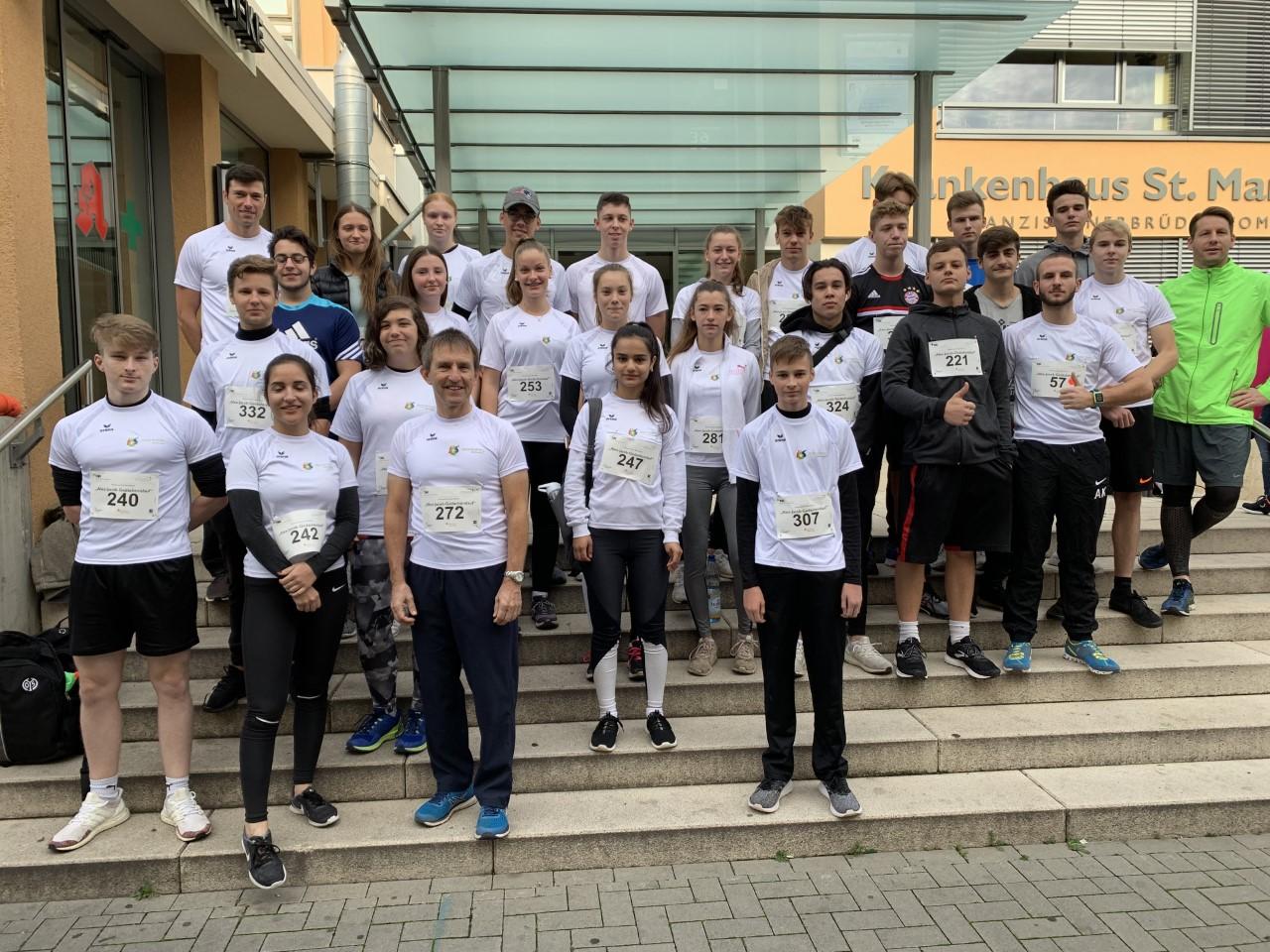 IGS Sophie Sondhelm war am 13.10.2019 als größte Teilnehmergruppe beim 13. Marienwörther Benefizlauf vertreten
