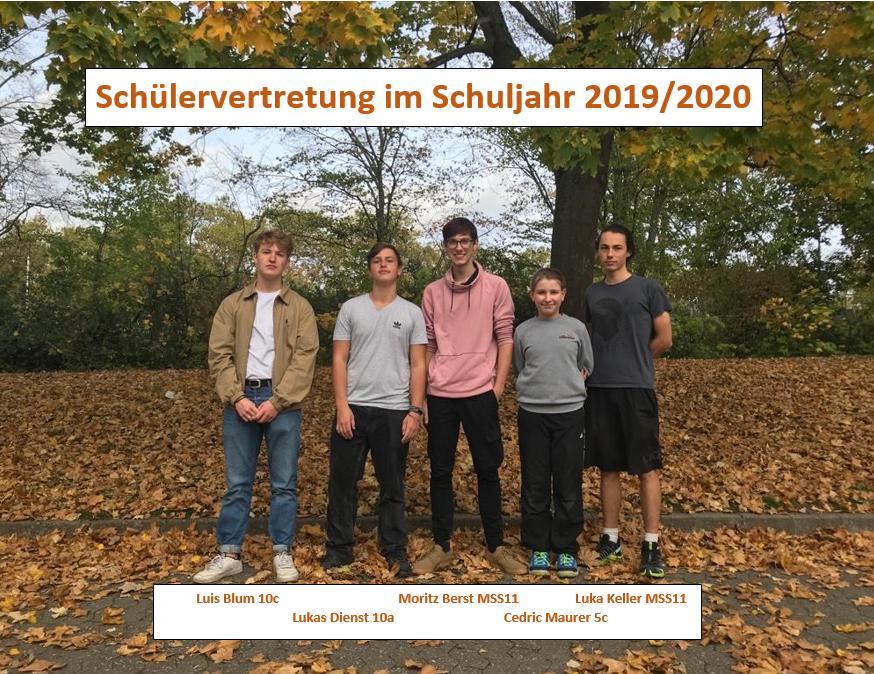 Unsere Schülervertretung im Schuljahr 2019/20