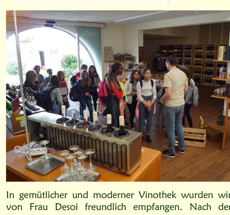 """Besuch im Weingut Desoi (Darmstädter Hof) bei Hackenheim – Ein Ausflug der AGs """"Malen mit Acryl""""  und """"Kreatives Schreiben"""""""