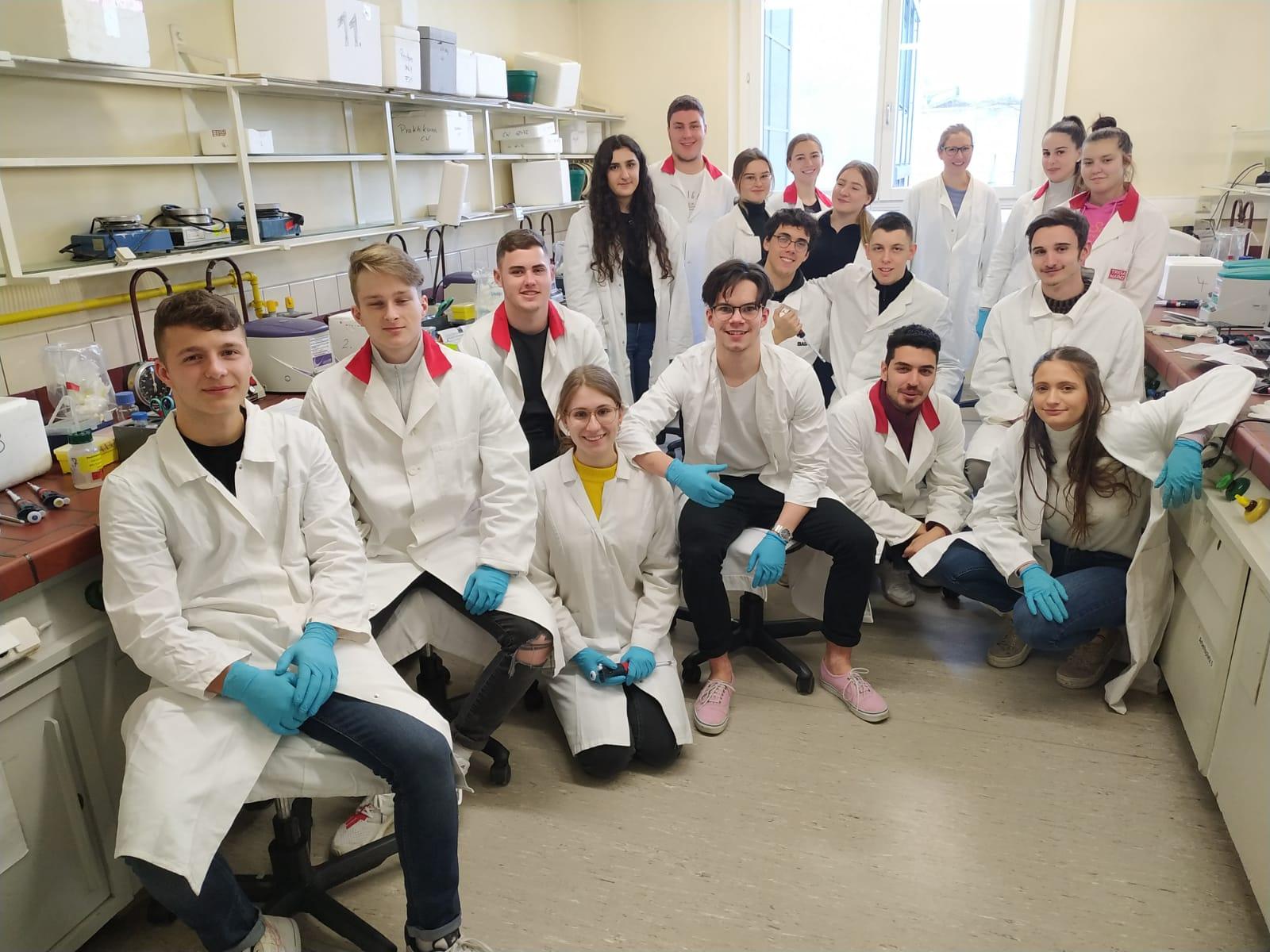 Bio LK 12 beim Praktikum im Bereich der Gentechnik an der JGU Mainz
