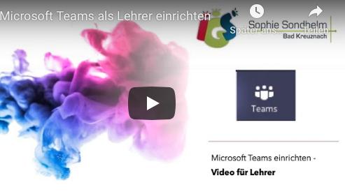 Videotutorial: Microsoft Teams (für Lehrer)