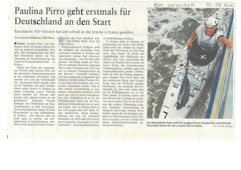 Presse: IGS Sophie Sondhelm gratuliert der Schülerin Paulina Pirro zu den beeindruckenden Erfolgen im Leistungssport